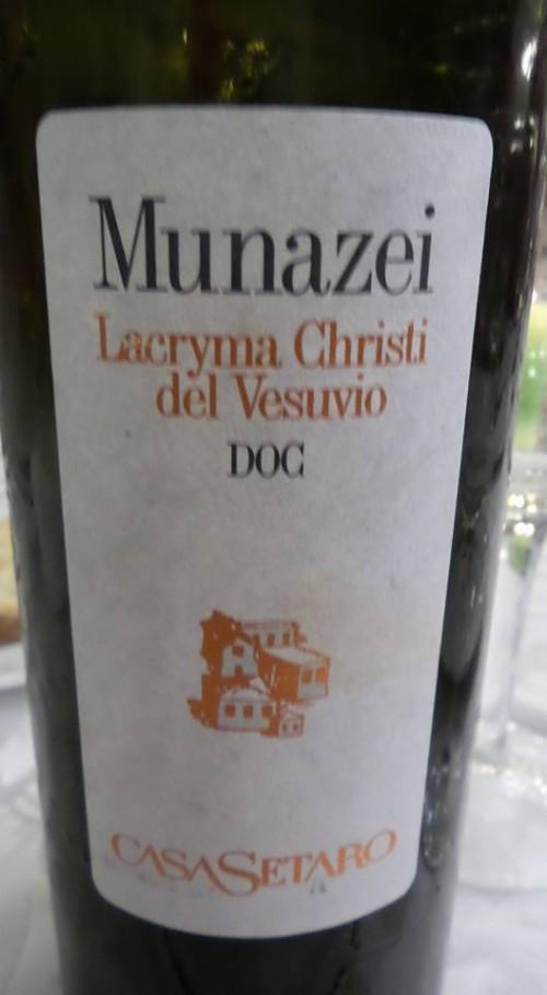 Lacryma Christi del Vesuvio Munazei Casa Setaro