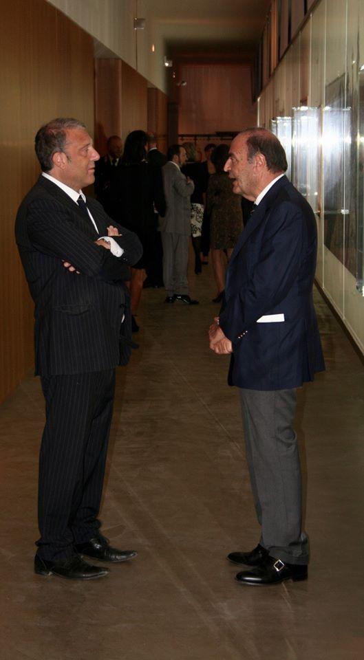 Leone de Castris e Bruno Vespa
