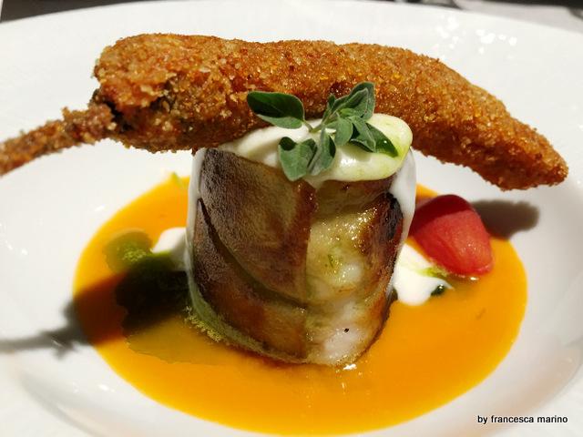 Parmigiana di rana pescatrice-