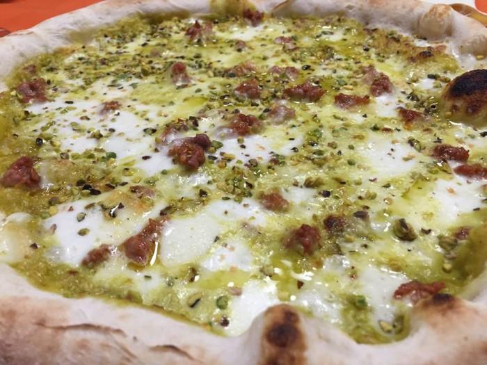 Pizza e Maccarun, al pistacchio