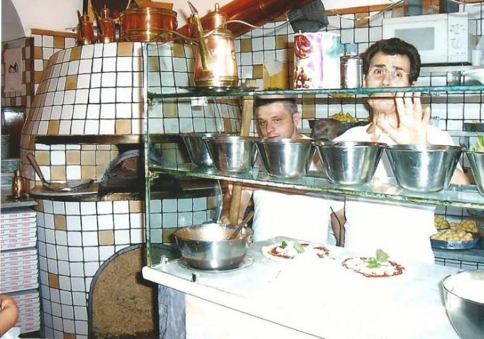 Pizzeria Carminiello, una foto storica