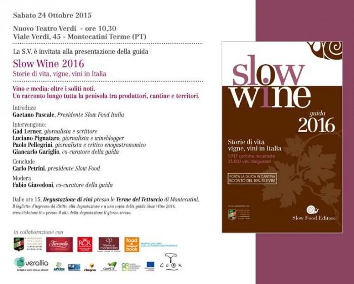 Presentazione di Slow Wine 2016 a Montecatini Terme