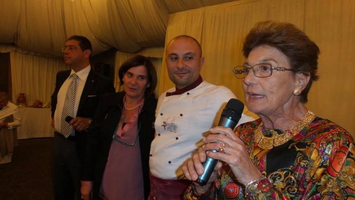 Rita Abagnale Slow Food Italia, Patrizia Spigno fiduciaria Slow Food Vesuvio, Giuseppe Pignalosa pizzaiolo vesuviano, Corrado Sorbo patròn di Villa Signorini
