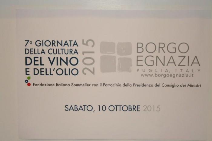 Settima giornata della Cultura del Vino e dell'Olio a Borgo Egnazia in Puglia