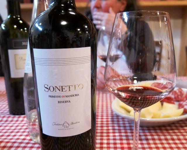 Sonetto Primitivo di Manduria Riserva dei Produttori Vini di Manduria