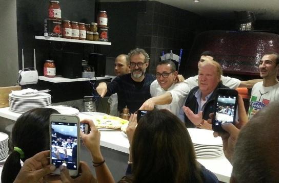 Massimo Bottura e Mario Batali a Lievito Madre da Sorbillo