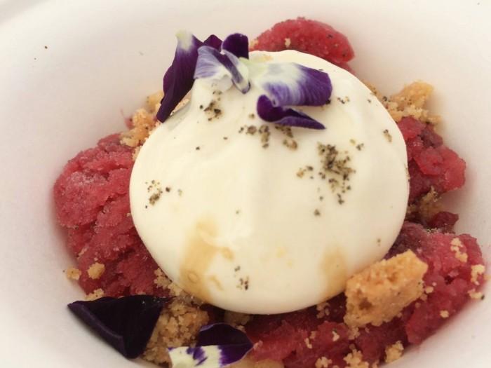 Taste of Rome 2015, Dolce mozzarella di bufala, grattachecca di frutta e balsamico