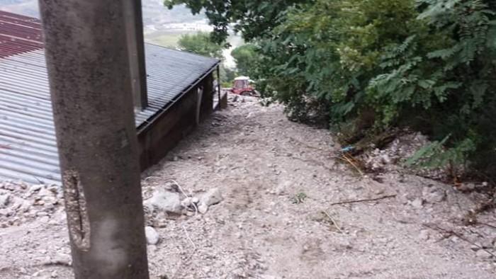 Torre del Pagus coperta di fango