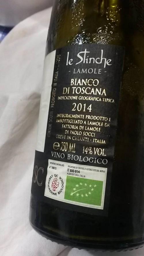 Toscana IGT Le Stinche 2014 - Fattoria di Lamole, controetichetta