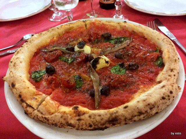 Villa Giovanna. La pizza marinara