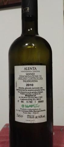 Alenta - Retro etichetta