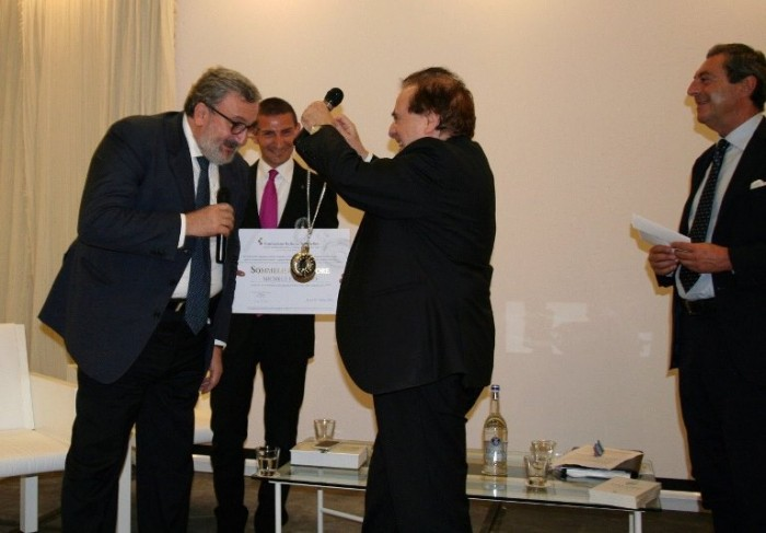 da sinistra il Governatore pugliese Michele Emiliano, Franco M Ricci, Attilio Romita