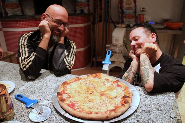 Giulio Adriani e Tony Gemignani Scott Wiener al Molino Caputo per la Nuova Pizza Americana