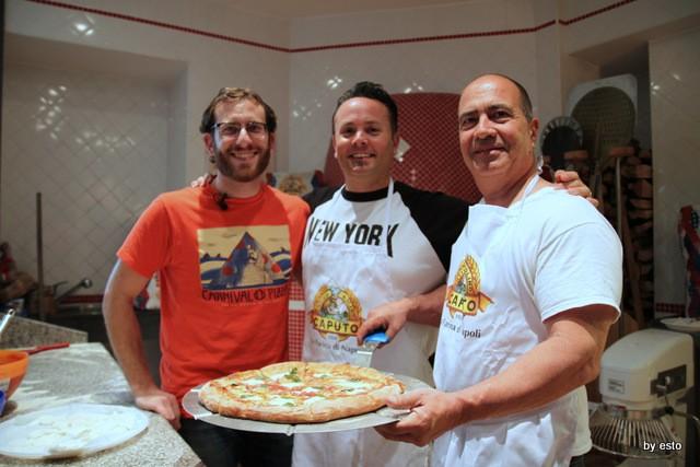 Scott Wiener Tony Gemignani  John Arena al Molino Caputo per la Nuova Pizza Americana