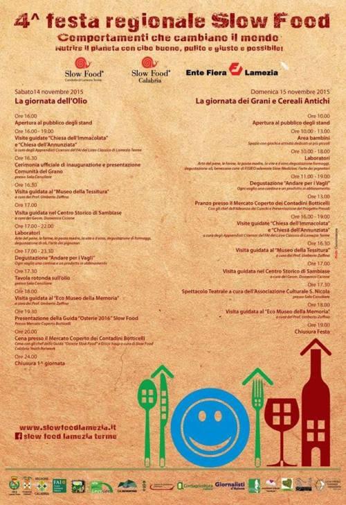 4^ Festa Regionale Slow Food a Lamezia Terme