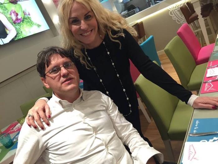 Antonella Clerici con Ciro Salatiello
