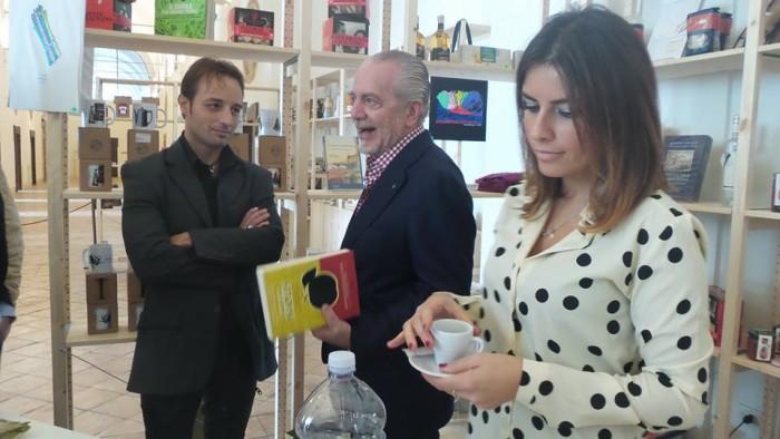 Aurelio De Laurentiis, Angelo Forgione e Paola Campana (Caffè Campana)