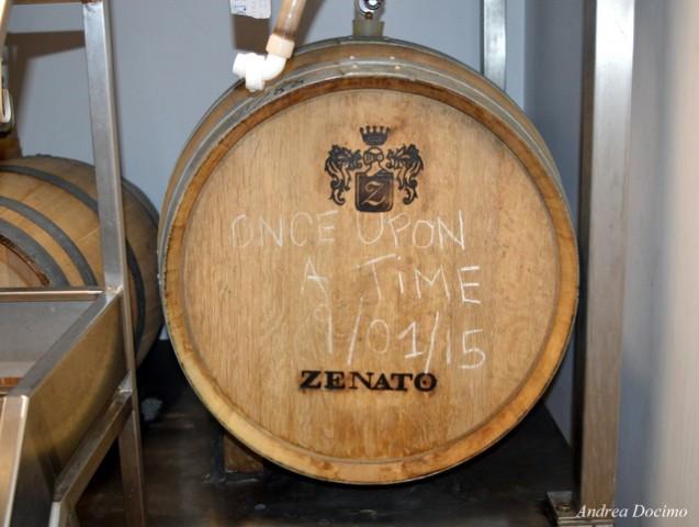 Botti di Amarone Zenato della Valpolicella DOCG contenenti la Once Upon a Time.