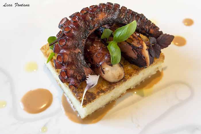 Cannavacciuolo Café & Bistrot, babà, il polpo