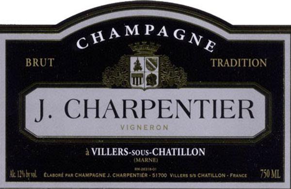 Champagne Brut Tradition J. Charpentier, l'etichetta