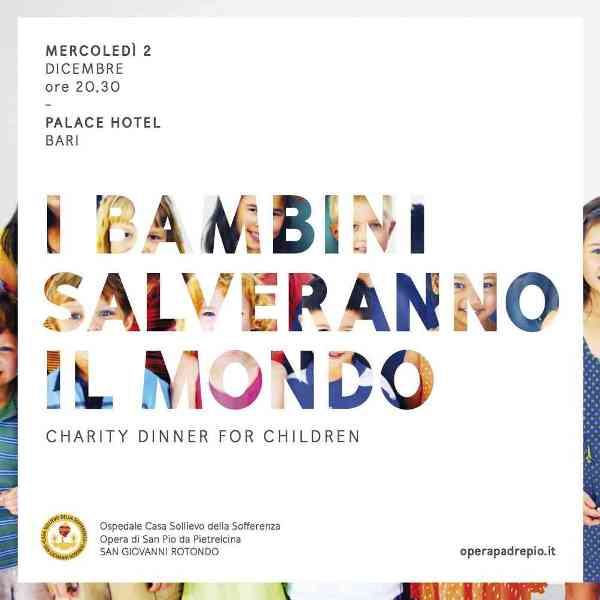 Charity Dinner for children al Palace Hotel di Bari