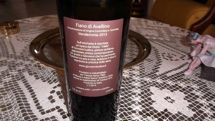 Controetichetta Fiano di Avellino Docg 2013 Tenuta Sarno