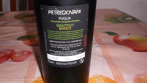 Controetichetta Minutolo Puglia Bianco Igp 2014 Pietregiovani
