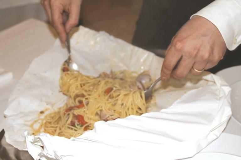 Da Ciccio, spaghetti al cartoccio