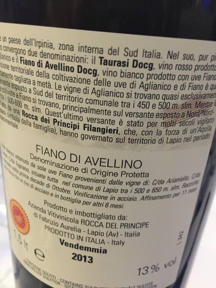 Fiano di Avellino 2013 Rocca Principe