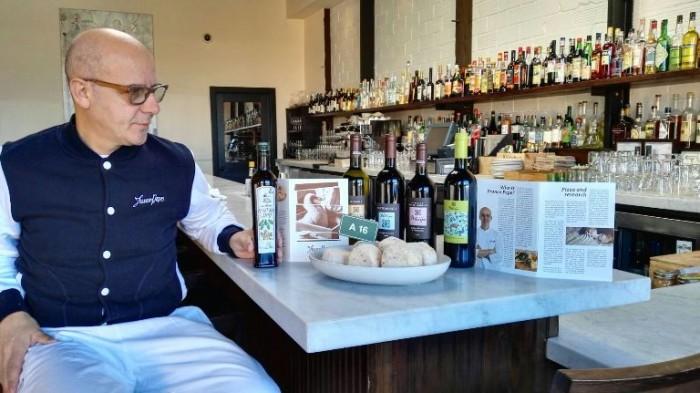 Franco Pepe a San Francisco con i prodotti