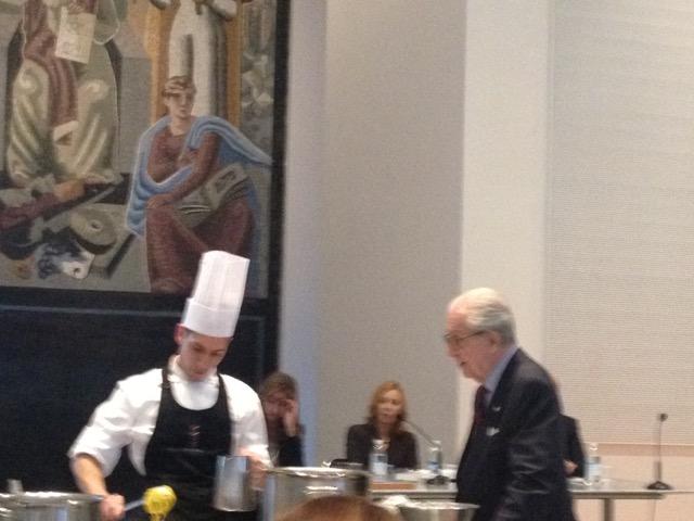 Gualtiero Marchesi ed il suo cuoco