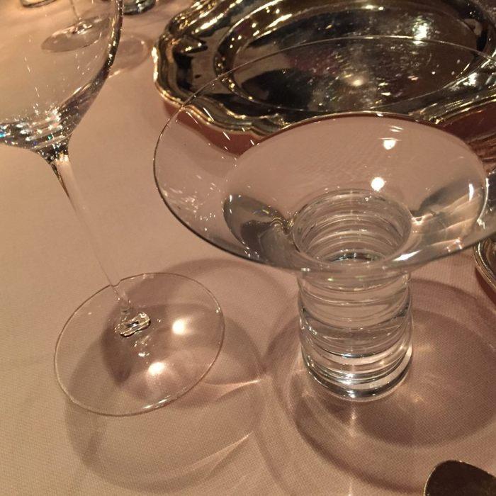 Heinz Beck, il bicchiere dell'acqua
