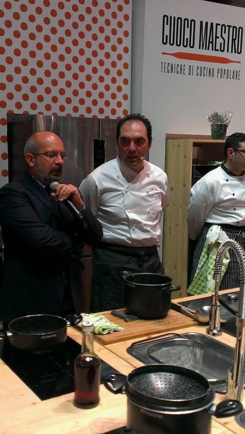 Il Presidente Slow Food Campania Giuseppe Orefice e Mimmo De Gregorio