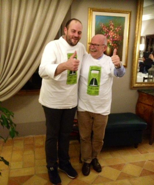 Il direttore dell'IMT Alberto Mazzoni con lo chef Errico Recanati