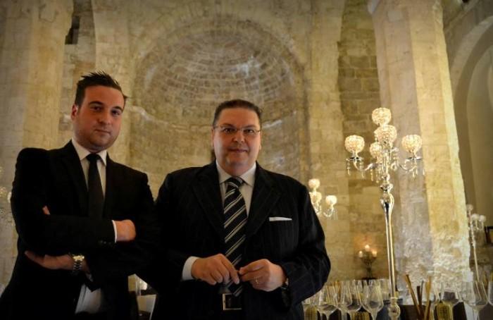 Il sommelier Francesco Alessandro Coletti ed il patron Antonio del Curatolo