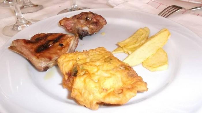 La Pietra Azzurra, agnello, patate e baccalà
