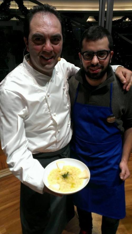 Mimmo De Gregorio e Aldo Iannarella con il piatto del giorno