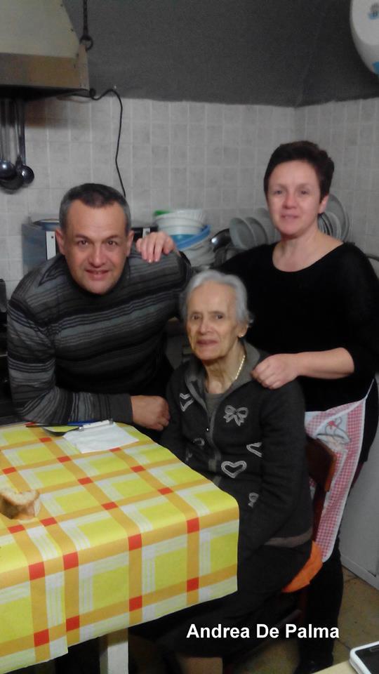 Osteria Il Cerriglio, mamma Angela con Lucrezia e Gianfranco Ventura