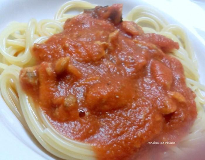 Osteria Il Cerriglio, spaghetti con sugo di alici fresche