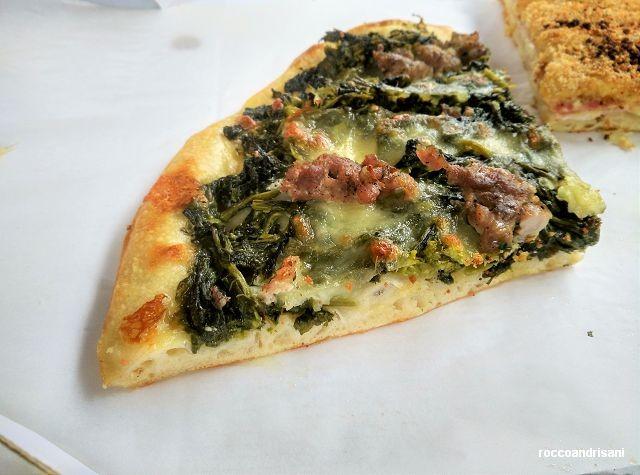 Panificio Michelangelo. Pizza salsiccia e friarielli
