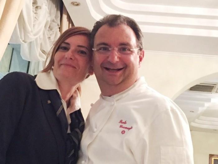 Paolo Gramaglia con la moglie Laila