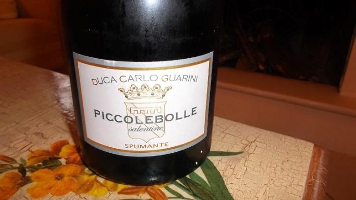 Piccolebolle Salentine Vino Spumante Bianco Extra Dry Igt Duca Carlo Guarini