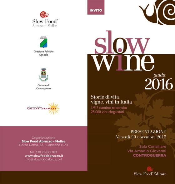Presentazione Guida Slow Wine all'Enoteca Comunale Controguerra