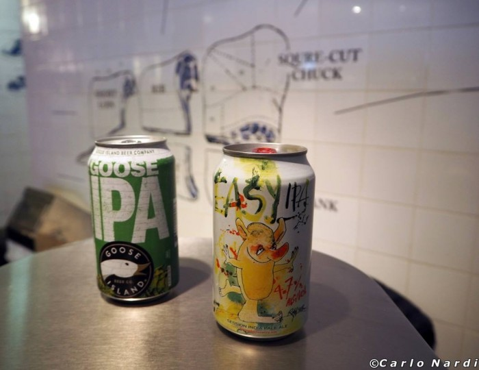 Prova lattine con Easy IPA di Flying Dog e Goose IPA di Goose Island