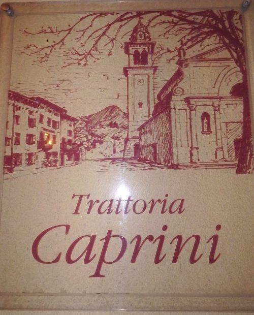 Trattoria Caprini, l'insegna