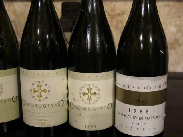 Verticale di Cambrugiano, alcuni dei vini degustati
