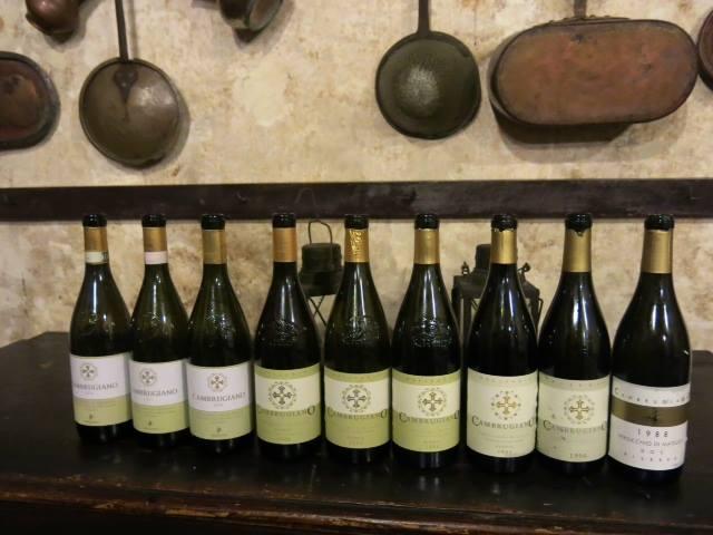 Verticale di Cambrugiano, i vini in degustazione