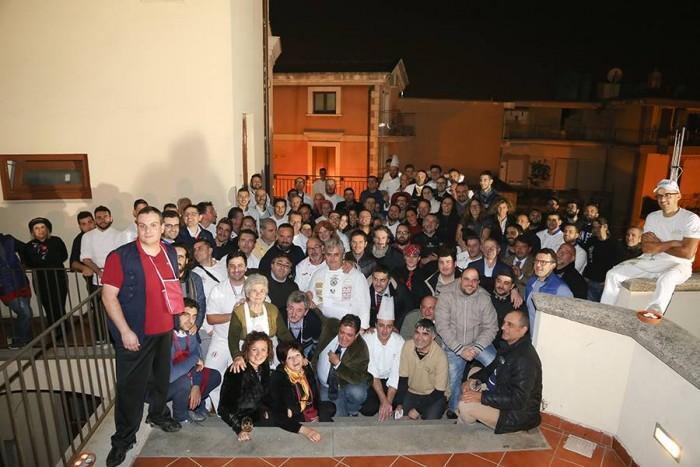 la Festa in Condotta di Slow Food dell'Agro Nocerino Sarnese, Marco Contursi con tutto il gruppo