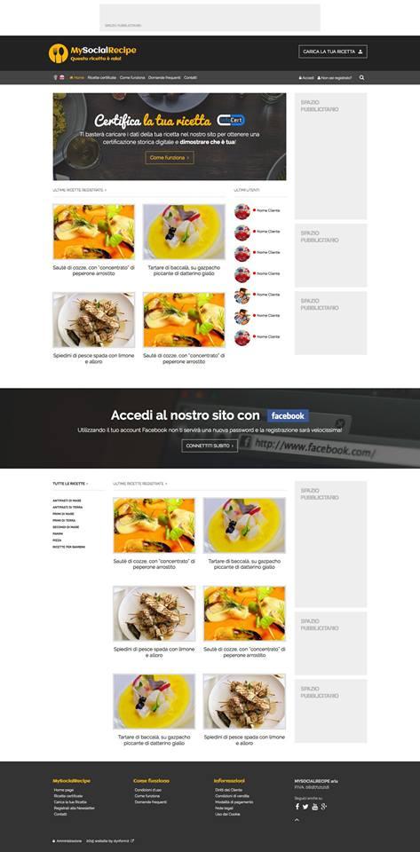 mysocialrecipe.com, il sito