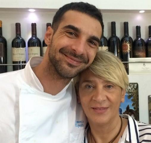 Mimmo Esposito con la mamma Teresa